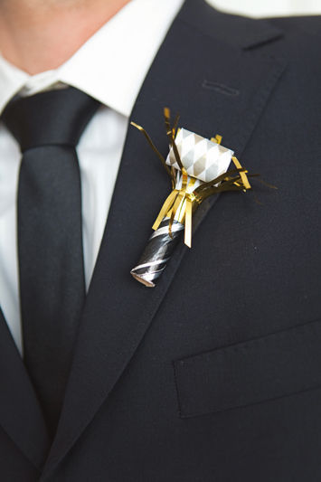 Love this for the groomsmen! So New Year's Eve!