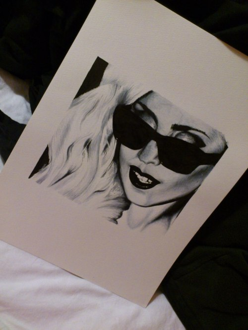 Lady Gaga £: aquarelle painting, almost just finished it, sooo many things went wrong in it but it's first time for me doing shadows like that :c soyeeeeah a little bit proud anyways heh.