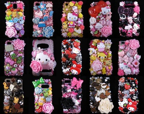 A friend of mine had her cell phone case all decked out…it was insane, cute, but an overload of cute. Looks like fun to do…. xo-Rodene