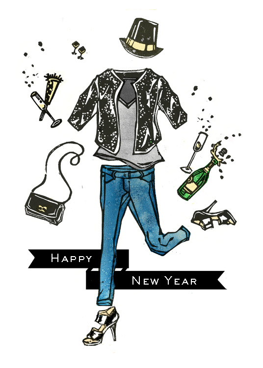 Let's Celebrate! Happy New Year! Illustration by Lis Sartori (www.lissartori.blogspot.com)