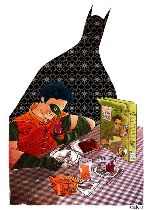 Breakfast is the most important meal of the day. Batman and Robin by Rafael Calça :: via flickr.com