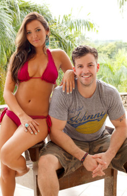 Blue Team 1:  Johnny (RW: Key West) & Camila (Spring Break Challenge)