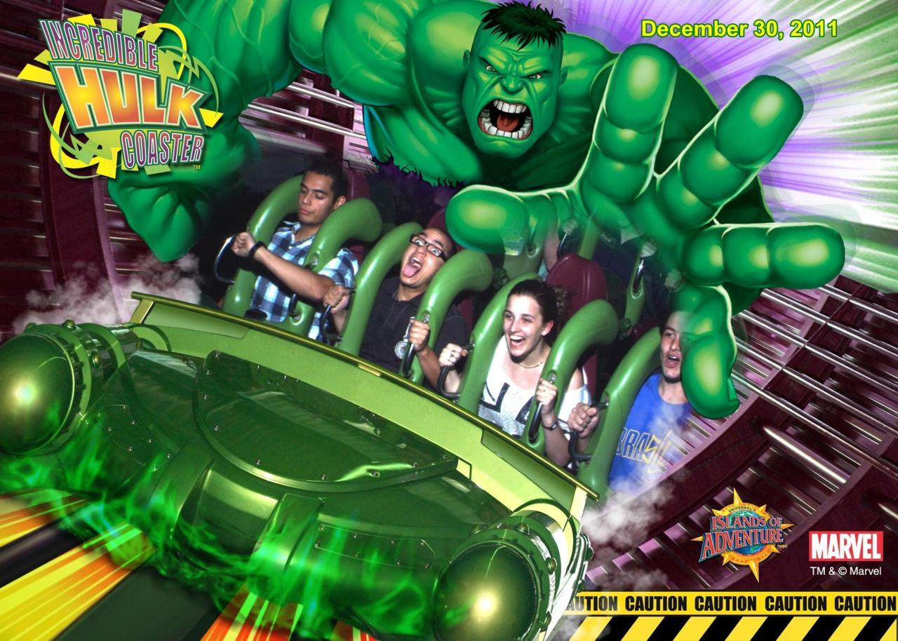My brother (the guy with the glasses) and I on the Hulk coaster at IOA.