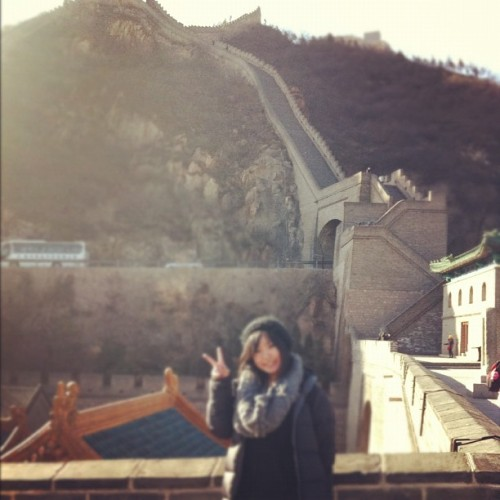 guess what I did on new years eve ? #greatwall #Beijing #heritage #culture #scenery #amazing #architecture #photooftheday #ignation #china #asia #me #girl #traveller #tourist #iphone4 #igers #igdaily #instagramhub  (Taken with instagram)