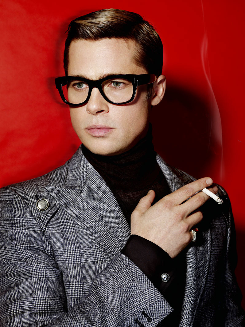 Brad Pitt photographed by Mario Testino in 2009 for V Magazine