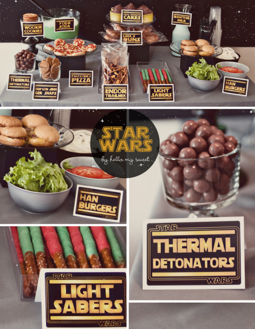 lepusminor:  Star Wars Party & Dessert Table (via Sweet Blog - Hello My Sweet)