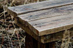 "40""x 11″Bench. Crafted from wood pallet. $50"
