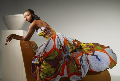 Another gorgeous dress that I believe comes from an old Vlisco lookbook.