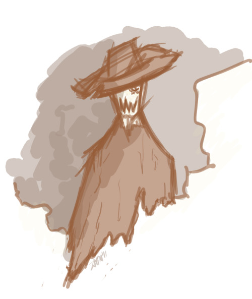 zmpeccadillo:[image: dramatic shadowy sketch of Scarecrow from Batman]Just sketching things.
