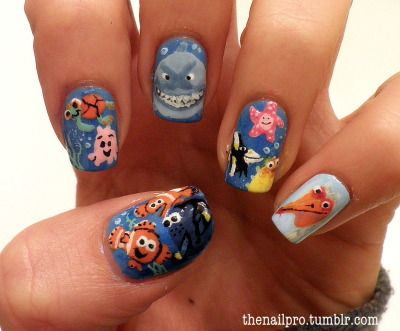 thenailpro:  finding nemo! so excited about these! message me for any specific color used! :)