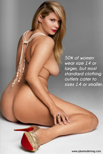 A few weeks back I posted a similar picture of a nude plus size model which gathered 7,400+ notes and more than a few discussions. With that being said I don't see a better way to end the year on Full Figured Potential than with this picture. Enjoy.  Happy New Year.