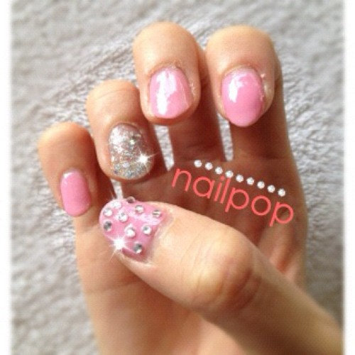 Bling nails for 2012! #nailpop #nailart #bling (Taken with instagram)