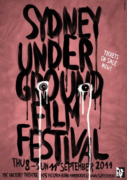 Two posters for the Sydney Underground Film Festival 2011 (SUFF 2011). Check their amazing film schedule, including Bedways by RP Kahl, which features music of my band Château Laut.  My SUFF poster is featured in the september issue of VICE Australia.