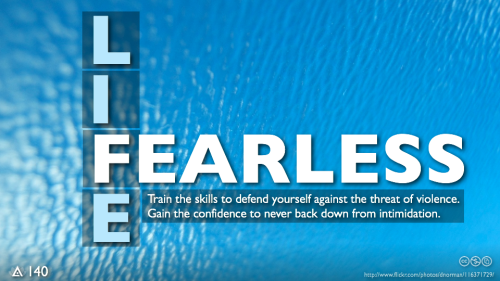 "FEARLESS: Train the skills to absolutely defend yourself against the threat of physical violence. Gain the complete confidence to never back down from bullying or intimidation. (Foundation Framework 4 of 4.) Imagine you're a kid in school dealing with almost daily abuse from a bigger, stronger bully. Your parents and other kids say, ""Stand up for yourself."" While you'd like nothing better, you know standing up would result in getting beat down. Self-preservation kicks in and results in fear-based strategies that turn you into a very good victim. The lessons taught by fear can turn the world into a prison. If you are afraid of getting hurt you invent reasons or excuses to not try. That mental turning point of backing down to the bully can repeat itself everywhere; defeatism and risk avoidance work their way into sports, careers, relationships… into life. But what if you knew — with absolute certainty — that you would not get hurt? That you could stand up to the bully and all of his size, strength and aggression were useless? If you had the confidence to know that whatever happened in life, you could deal with it, and never back down?  When you have trained to conquer the worst-case scenario of the bigger, stronger person dominating and defeating you, everything else in life is — by comparison — easy. When you gain absolute confidence in your reflexes, when you know someone else cannot hurt you, you become a very bad victim. You become fearless."