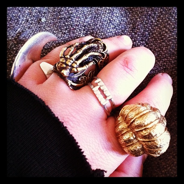 New rings on the hand  (Taken with instagram)