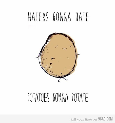I'm not sure if I get this, but the potato is just adorables.