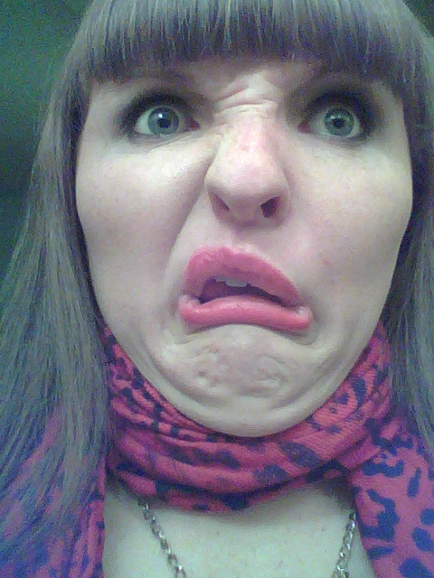 A recent photo. Actually first funny face I made since I made this tumblr. Yes that means all the ones previous were saved in my phone…don't worry I have plenty more old ones.