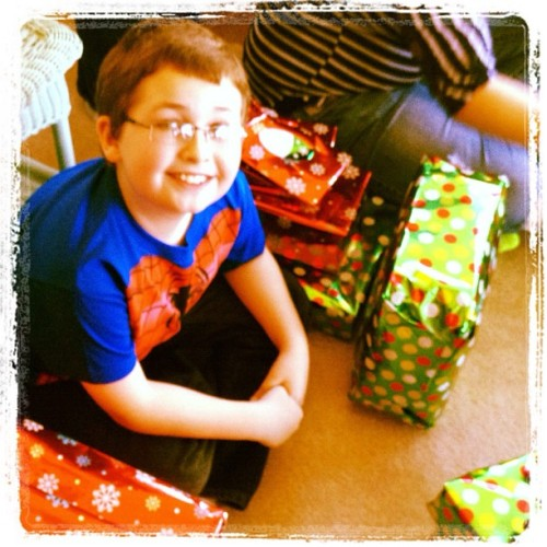My son, Stevie. The face of Anticipation. #top11of11 #2011 #Christmas … Take note I didn't get on #IG until November, so my Top11 pics will be condensed to the last couple months of the year. (Taken with instagram)
