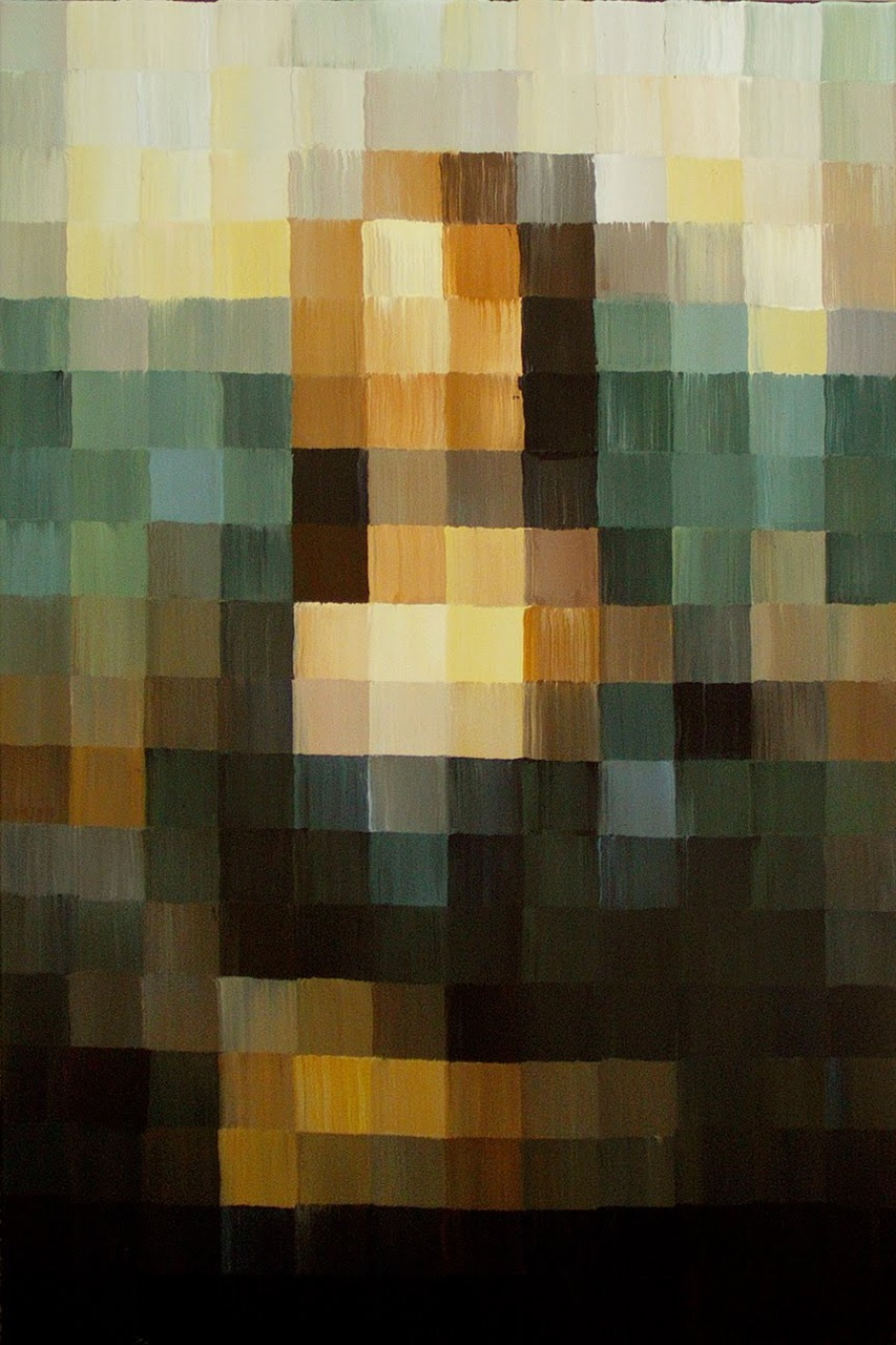 gaksdesigns:  8-bit Mona Lisa by Alexander Schaefer.