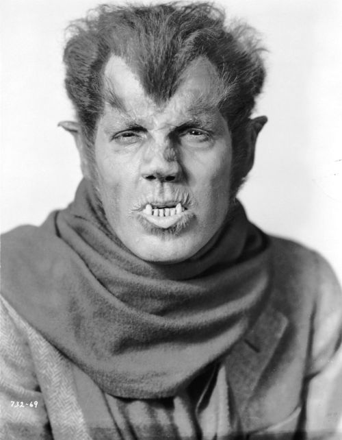 Fact 64: The makeup used on Lon Chaney Jr.'s Wolf Man was originally created by Jack Pierce for Henry Hull in Werewolf of London (1935). However, Hull did not want to wear this makeup because it was too time consuming, so Pierce created a less hairy version for him.  Pictured above is Henry Hull in Werewolf of London.
