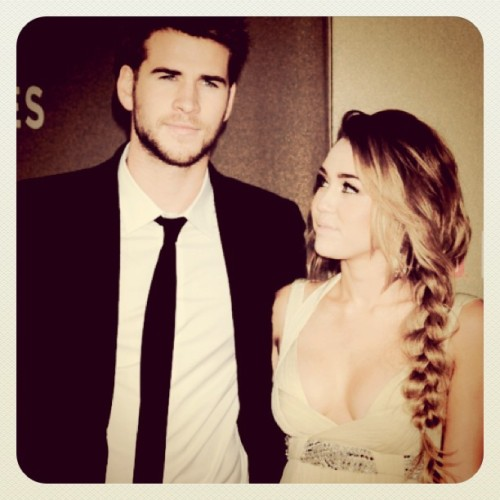#liamhemsworth #mileycyrus #miam cutest couple! (Taken with instagram)