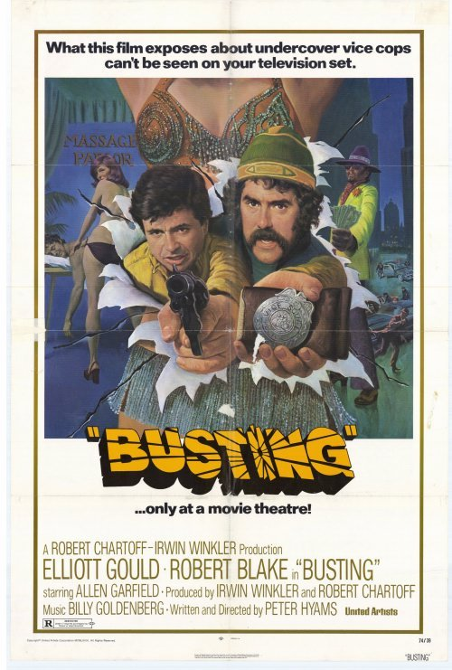NAVIGATING NETFLIX: BUSTING (1974) Came Across this gem on Netflix last night.  I thought I would put it on in the background, but pretty much got hooked (pun intended) after the opening scene.  Classic 70s Cop Flick. Perfect mix of drugs, fast boobs, chase scenes, and good cops being held down by the man. Pretty killer score too: http://confluencefilmblog.blogspot.com/2010/07/soundtrack-spotlight-3-busting-billy.html