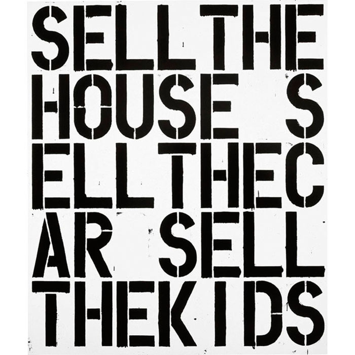 julienfoulatier:   Painting by Christopher Wool.