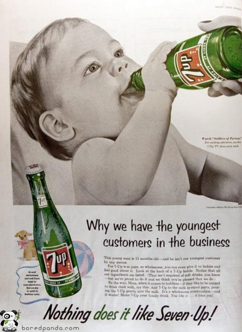 old-ads-and-mags:  Weird ad from 7-Up