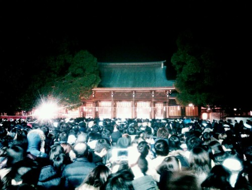 Just back from All-Tokyo Wrestlemania 2012 at a frozen Meiji Jingu. Thousands there, huddled like penguins of Antarctica, but remarkably free of crowd odour. Wishes made, fortunes told, and wallet and electronic devices all still on board.  Shin-nen akemashite omedeto gozaimasu. Happy New Year. x