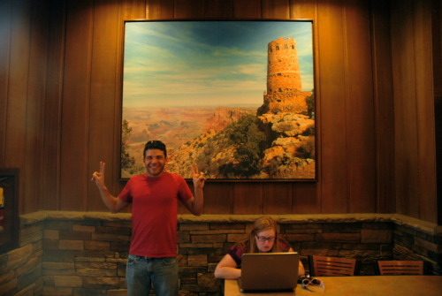 Check this out Dad - Me at the Grand Canyon (cafeteria).