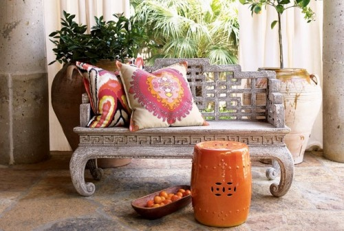 My Bohemian Home ~ Outdoor Spaces  Source: Horchow