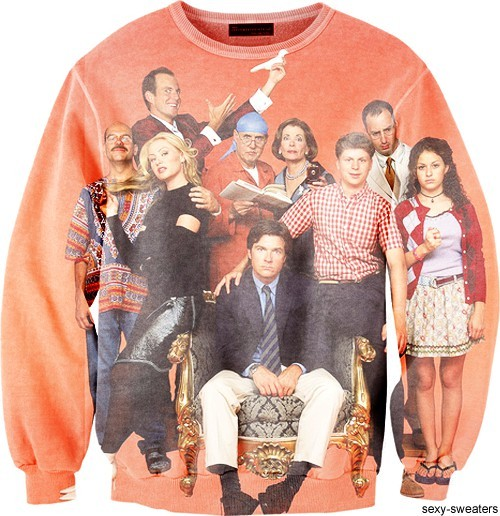 bluth-development:  FUCKING WANT.  [Description: Image of a sweatshirt depicting the Bluth family from Arrested Development.] CANNOT POSSIBLY BE FOR REAL
