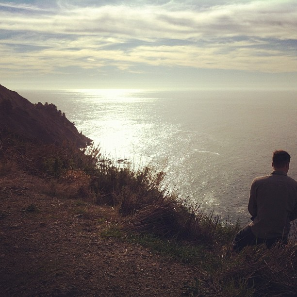 Peeing on the California coast (Taken with instagram)
