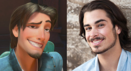 darkmarkless7:  Flynn Rider = Joey Richter. They just can't seem to get his facial hair  right… <3 them both