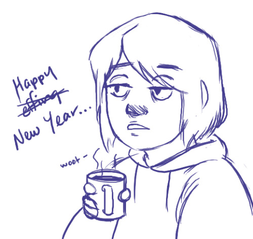 Happy New Year~!Just because I'm like…the last timezone to celebrate, I'll post this up early. I get to spend it with a lovely cold that the guys at work gave me for Christmas.Such thoughtful gentlemen. Anyway, I'm sorry I've been slow around here. To be honest, with the exception of today, its been WEEKS since I've tried to draw anything. With the new year, that's going to have to change because I need a new 3D portfolio for March as well as fanart prints for a con. That should be something to look forward to. Please be safe and I wish the best for the upcoming year~!