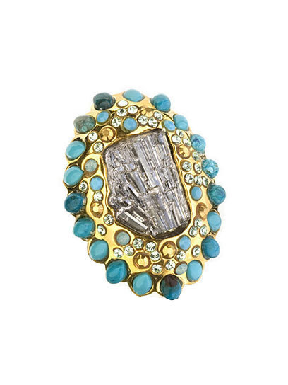 Jazz up any winter look with an oversized ring, like this sparkling stunner from Alexis Bittar. See more in our list of top 25 stylish rings here »
