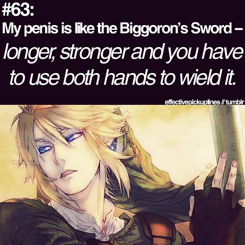 soraandlink:  Zelda pick up lines! Couldnt help but combine them all!Credit for the first 5 are -  http://effectivepickuplines.tumblr.com/  hahahaha