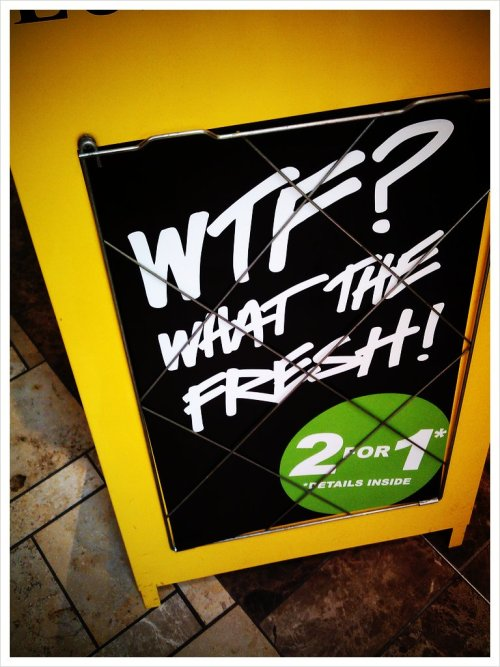 Hey?? What the fresh!(: (Taken with picplz.)