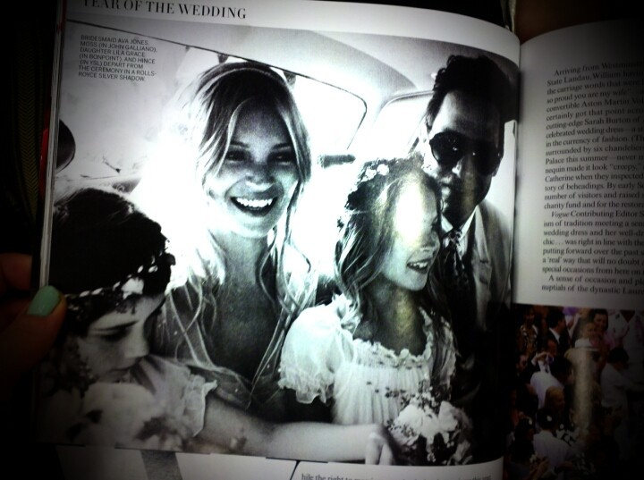 Kate Moss wedding - Vogue (Photo by katelynblock)