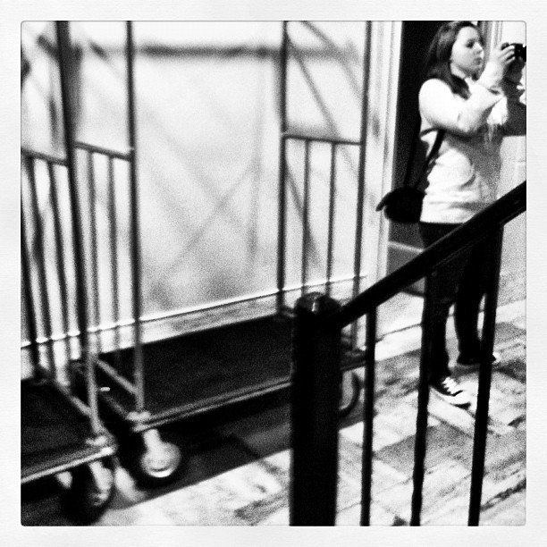 #random #candid #friend #bellhop #bell #hop #handrail #rail #hand #camera #room #hotel #instagram (Taken with instagram)