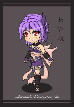 .:Chibi Ayane:. by *MKNinjaChick Isn't She The Cutest Butterfly?