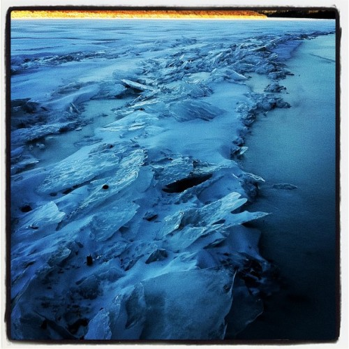 Ice formation on the North Saskatchewan River (Taken with instagram)