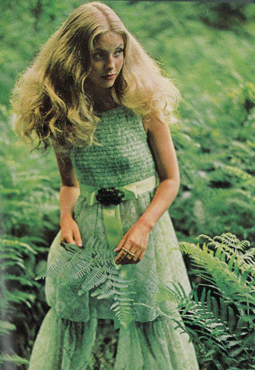 Judy Bowker by Patrick Litchfield for Vogue UK, 1969.