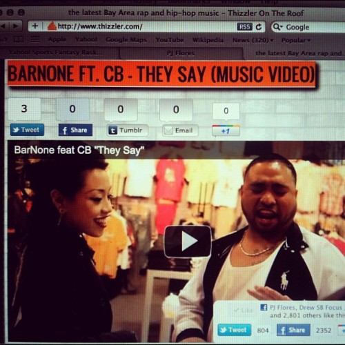 "Hilarious *NEW VIDEO* starring ME & @mikebelf  BarNone ft @machrispy ""They Say"" shot by @ThatGuy510 edit by @cinestra.. #NOSLEEP is available on itunes http://t.co/sd0JWi4t (Taken with Instagram at Www.Thizzler.com)"