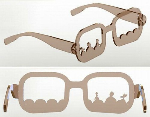 sierrahouk:  MST3K Glasses.MAKING THESE. OH MY GOD.   [Description: Acrylic glasses that depict the theater seats from Mystery Science Theater 3000.]