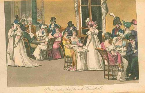 The French Vauxhall, Fashions of London and Paris, October 1811.  HAPPY NEW YEAR! I hope you all have a wonderful and prosperous 2012, and I can promise I'll try my best to brighten it with fashion plates!