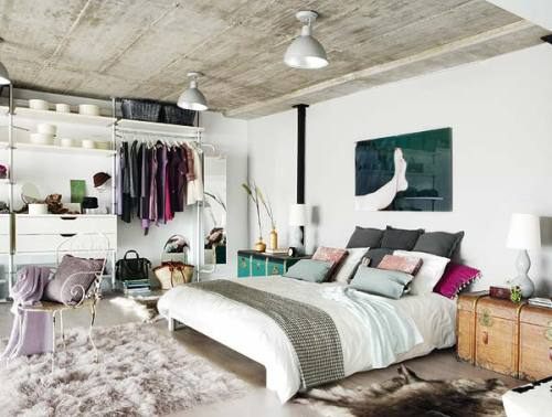 IKEA SPOTTED // STOLMEN closet system, LJUSÅS SALBO table lamps [ Madrid loft ]