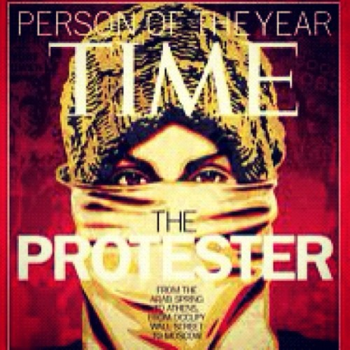 Time Magazine Cover done by Shepard Fairey #obey  (Taken with instagram)