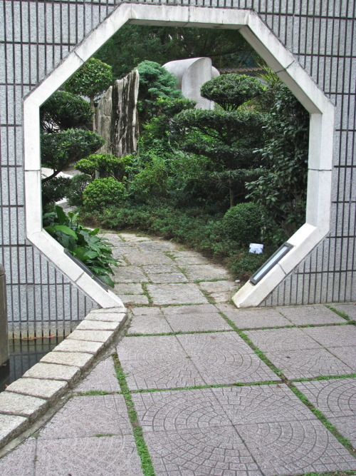"architectureofdoom:  The ""Tai Chi Garden"" in Hong Kong Park"