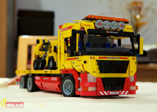 Lego Flatbed Truck. by Dan Fegent on Flickr.Via Flickr:Website | Twitter | Tumblr | Facebook | 500px This was the christmas present that I chose for my youngest brother this year  :)  Never too old for Lego!!!  However, the 10-16 age rating on the box is a lie!!! Took us a lot longer to make than I care to admit hehe ;)